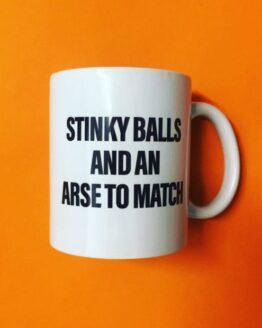 stinky balls mug